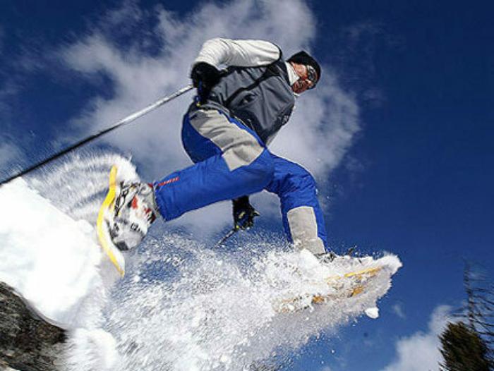 Schneeschuh Laufen